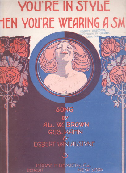 Image for You're in Style when You're Wearing a Smile :  Sheet Music, 1918