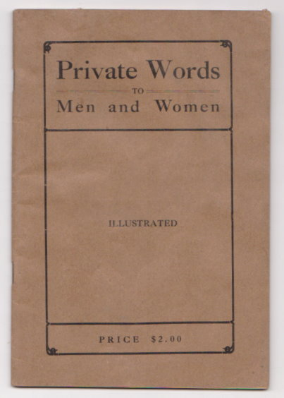 Image for Private Words to Men and Women :  Illustrated