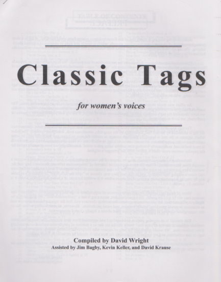 Image for Classic Tags for Women's Voices :  For Barbershop Singing