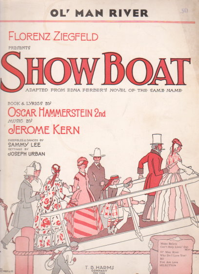 Image for Ol ' Man River from Show Boat :  Sheet Music