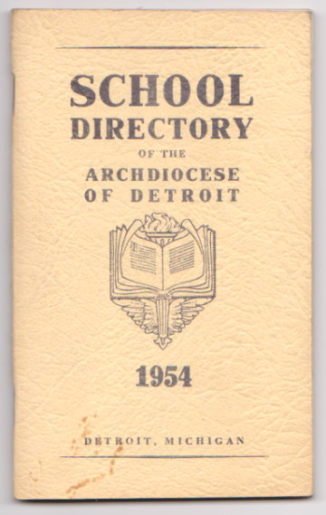 Image for School Directory of the Archdiocese of Detroit :  Detroit, Michigan, 1954