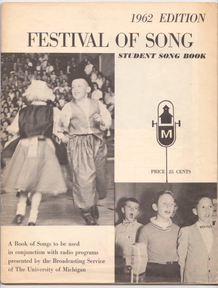 Image for Festival of Song :  Student Song Book
