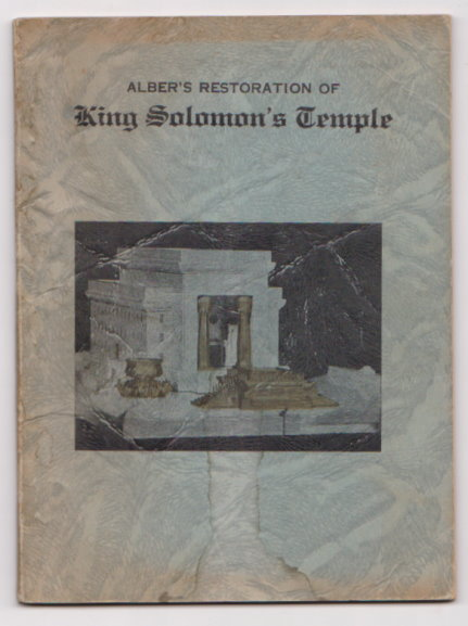 Image for Alber's Restoration of King Solomon's Temple