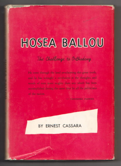 Image for Hosea Ballou :  The Challenge to Orthodoxy