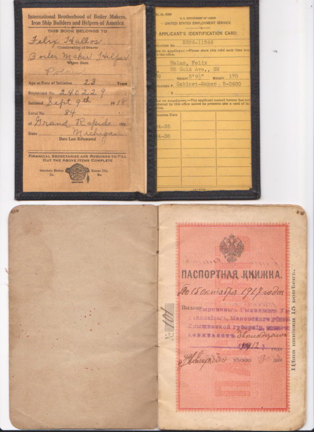 Image for International Brotherhood of Boiler Makers, Iron Ship Builders and Helpers of America :  Membership Card and Russian Passport
