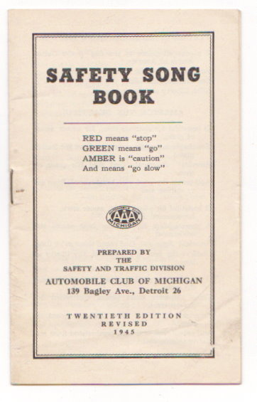 Image for Safety Song Book