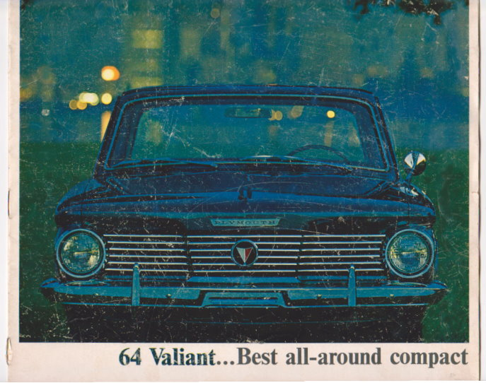 Image for 64 Valiant :  1964 Chrysler Plymouth Valiant, Best All-Around Compact, Sales Brochure