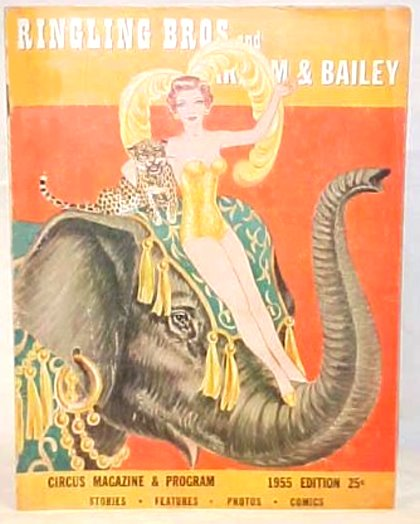 Image for Ringling Brothers and Barnum & Bailey :  Circus Magazine and Program, 1955 Edition