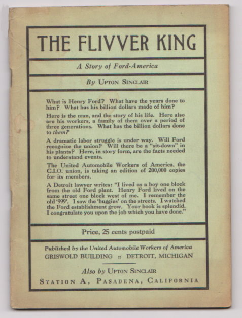 Image for Flivver King, the :  A Story of Ford-America