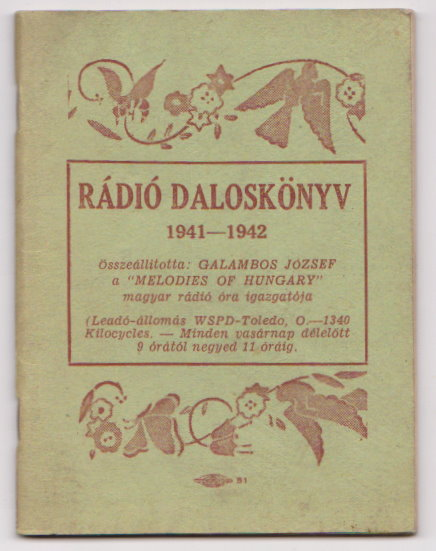Image for Radio Daloskonyv :  Magyar Dallamok Oraja, Melodies of Hungary Radio Hour