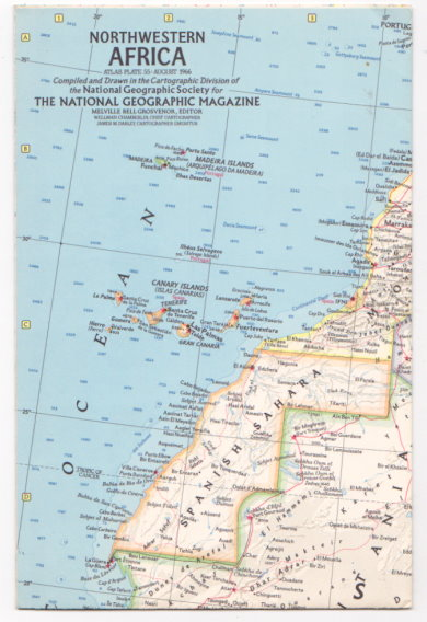 Image for Northwestern Africa:  National Geographic, Atlas Plate 55, August 1966