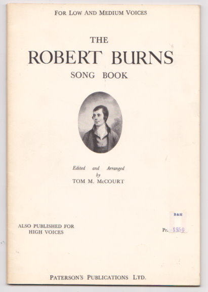Image for Robert Burns Song Book, the :  For Low and Medium Voices