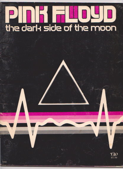 Image for Pink Floyd, the Dark Side of the Moon :  Piano, Vocal, Guitar, TRO Songbook, Album Tie-In, Black and Pink Edition
