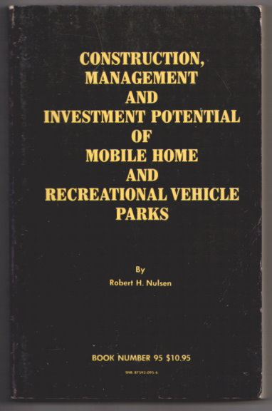 Image for Construction, Management and Investment Potential of Mobile Home and Recreational Vehicle Parks