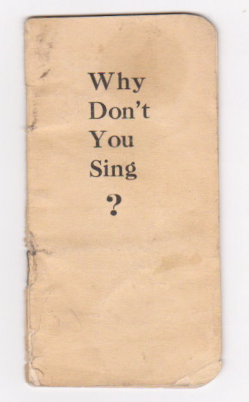Image for Why Don't You Sing ? :  American Oil Corporation Songbook