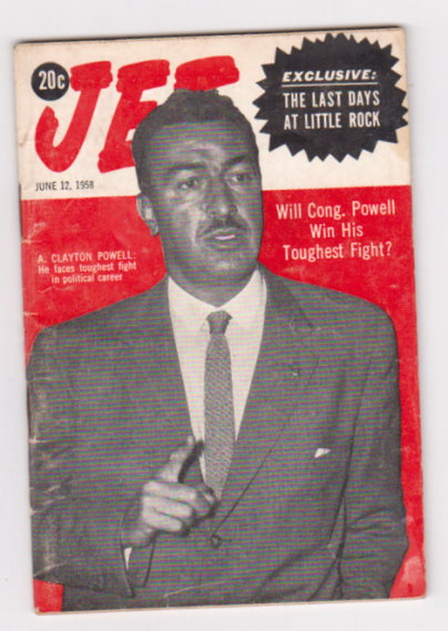 Image for Vintage Jet Magazine, June 12, 1958 :  Adam Clayton Powell Faces Toughest Fight in Political Career ; Last Days At Little Rock