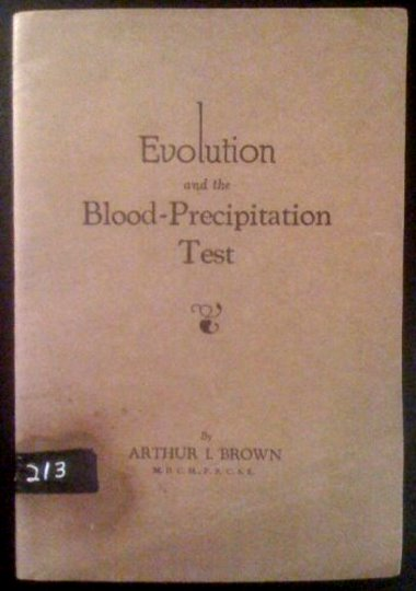 Image for Evolution and the Blood Precipitation Test