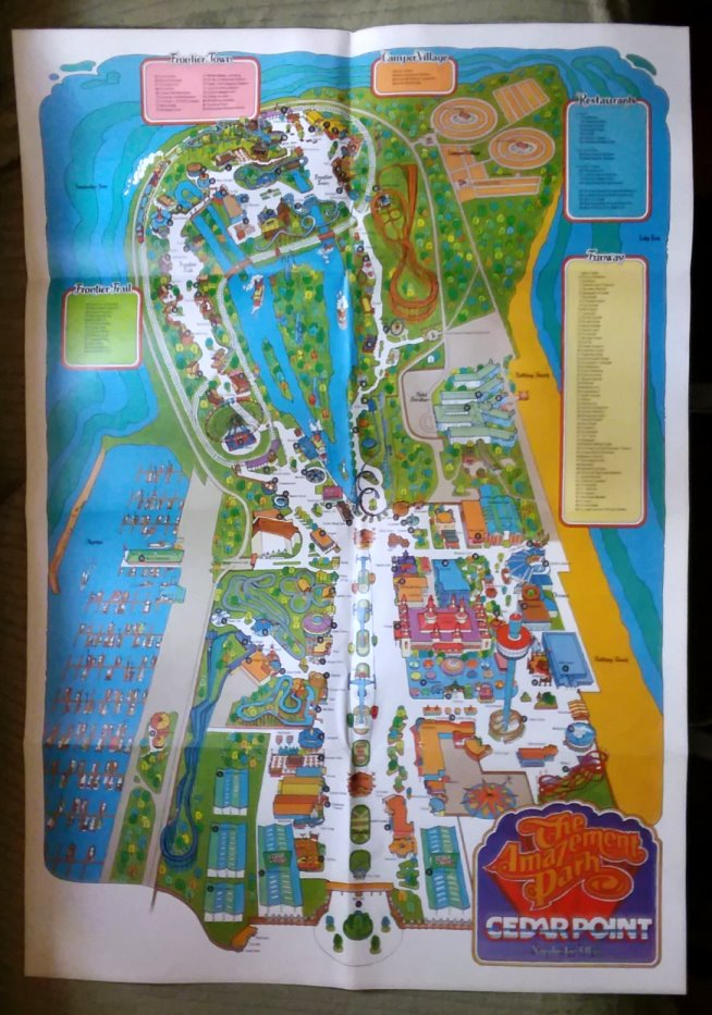 Image for Cedar Point, the Amazement Park :  Map 1982