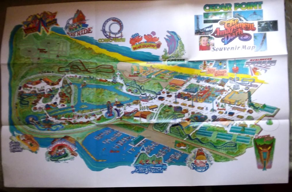Image for Cedar Point, the Amazement Park :  Map 1986