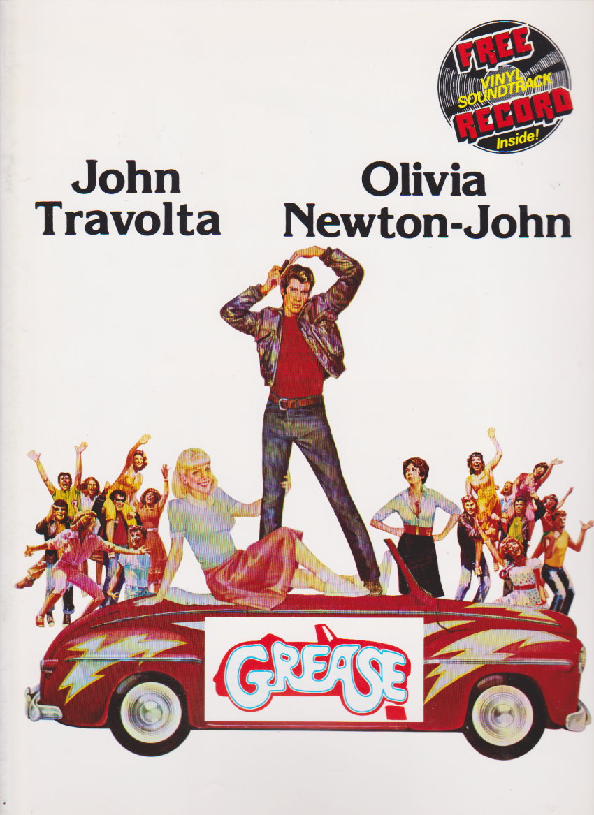 Image for Grease, Souvenir Movie Program :  With Vinyl Soundtrack Record Inside