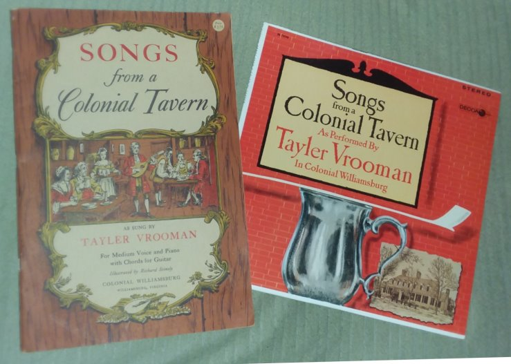 Image for Songs from a Colonial Tavern :   (Book and Record) for Medium Voice and Piano with Chords for Guitar