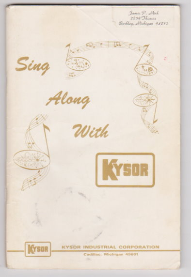 Image for Sing Along with Kysor :  Lyrics to 300 Songs