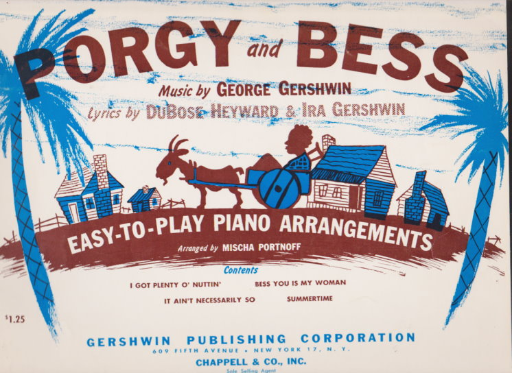 Image for Porgy and Bess, Easy to Play Piano Arrangements :  I Got Plenty of Nuttin' ; Summertime ; Bess You is My Woman ; It Ain't Necessarily So