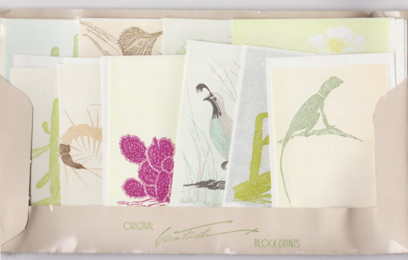 Image for Birds and Cactus Gift Cards :   (Set of Gwen Frostic Cards and Envelopes)
