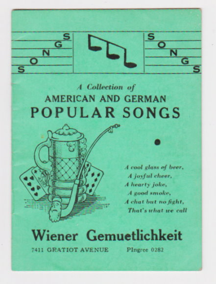 Image for Collection of American and German Popular Songs, a :  Wiener Gemuetlichkeit