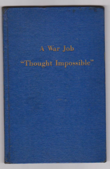 Image for A War Job :  Thought Impossible