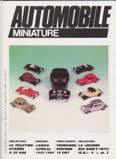 Image for Automobile Miniature :  Number 6, September 1984