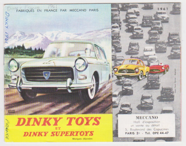 Image for Dinky Toys et Dinky Supertoys 1961 :  Fabriques en France par Meccano Paris