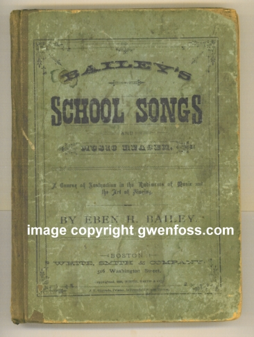 Image for Bailey's School Songs and Music Reader :  A New Singing Book for Schools, Containing a Complete Course of Elementary Instruction, and a Large Collection of Exercises, Songs, Duetts, Trios and Quartettes . . .  (1880)